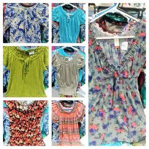 7 Juniors/Ladies Small Blouse lot